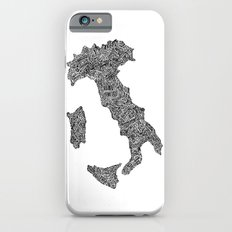 Lettering map of Italy iPhone 6s Slim Case