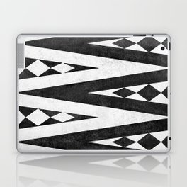Tribal pattern in black and white. Laptop & iPad Skin