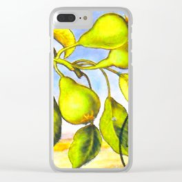 Branch of a Pear tree in Summer Clear iPhone Case