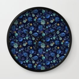 Cindy large floral print Wall Clock
