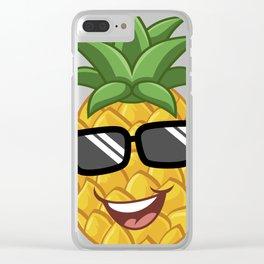 Emoji Pineapple design, Hawaiian Pineapple product Clear iPhone Case