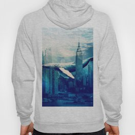 Blue Whale in NYC Hoody