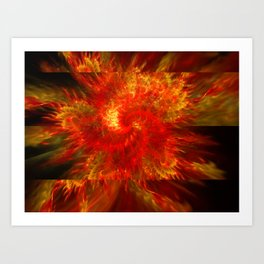 Flames Outspreading Art Print