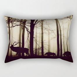 Forest night deer Rectangular Pillow