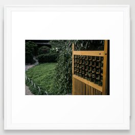 Peaceful Entrance Framed Art Print