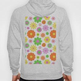 Vintage Daisy Crazy Floral Hoody