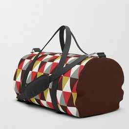 Midcentury harlequin pattern Duffle Bag