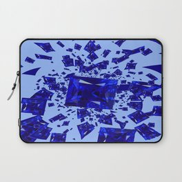 Blue Sapphire Gems Infusion Abstract Patterns Laptop Sleeve
