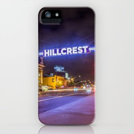Hillcrest (San Diego) Sign - SD Signs Series #3 iPhone Case