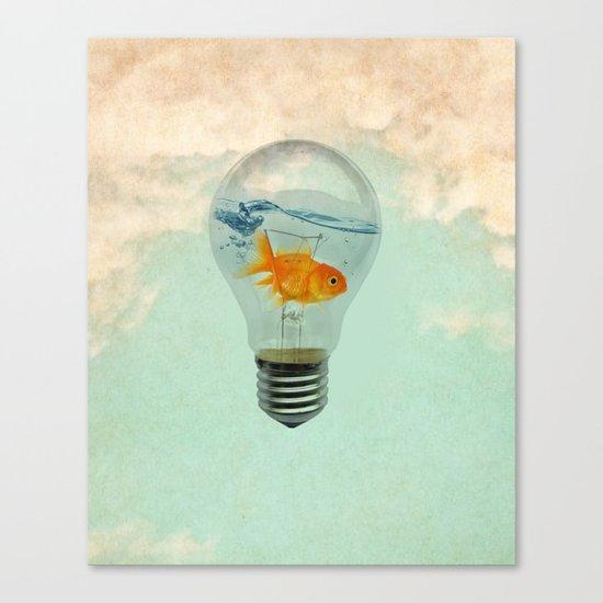 goldfish thinking Canvas Print