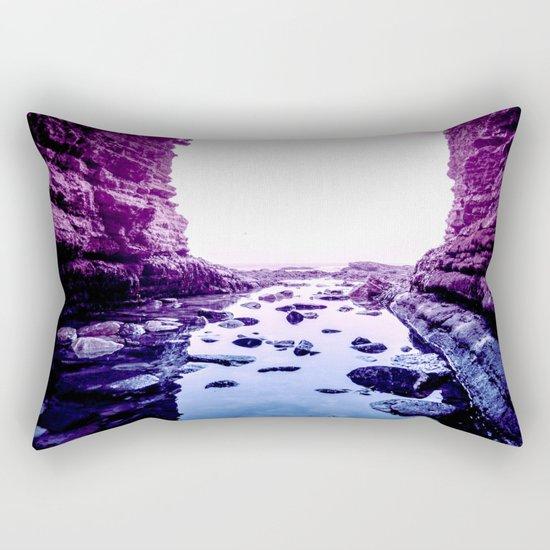 Purple Blue Lagoon Rectangular Pillow