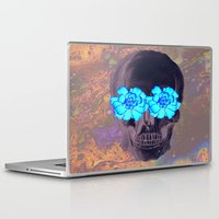 day of the dead Laptop & iPad Skins featuring Day of the Dead by Charlotte Anderson