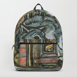 Wolf at the Door Backpack