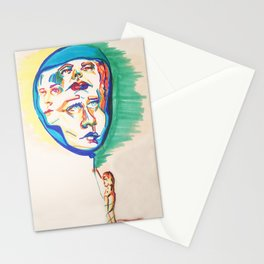 Floating Faces Stationery Cards