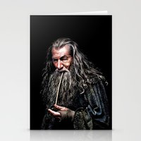 gondor Stationery Cards featuring Gandalf  by DavinciArt