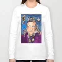 robin williams Long Sleeve T-shirts featuring Robin Williams  by Aviva Bubis Art and Stuff