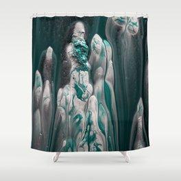 Melting Emerald Shower Curtain