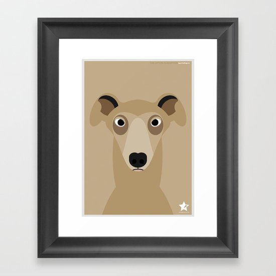 Greyhound (Galgo Ingles) Framed Art Print