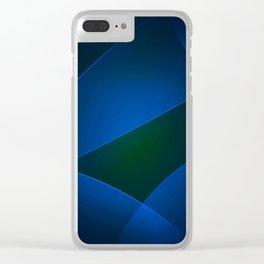Regal Blue, Burnnham, Stratos, Midnight, Congress Blue & Smalt Colors Clear iPhone Case
