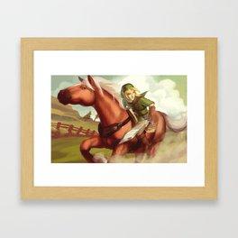 Link and Epona Framed Art Print