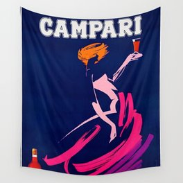 Vintage 1983 Bitter Campari Advertisement by Carrier Alain Wall Tapestry