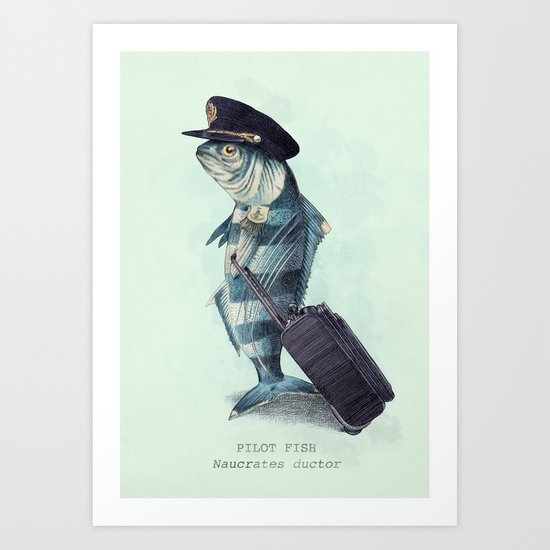 The Pilot (colour option) Art Print