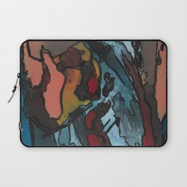 Over the Bluff Abstract Landscape Painting Laptop Sleeve