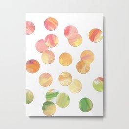 Fun Tropical Rainbow Confetti Dots Metal Print