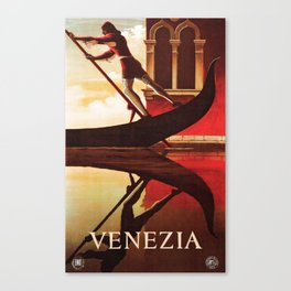 Vintage Venezia Italia Travel Canvas Print