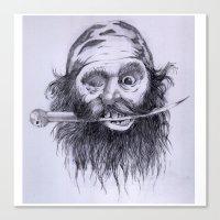 charlie Canvas Prints featuring Charlie by Joe Cardoso