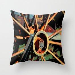 Color Tractor Wheel Throw Pillow