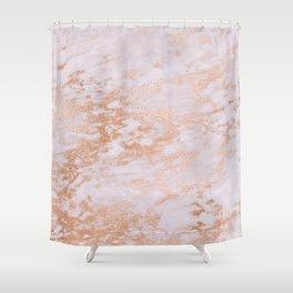 Pastel Lavender Marble Rosegold Glitter Pink Shower Curtain