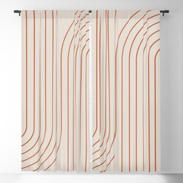 Minimal Line Curvature - Coral II Blackout Curtain