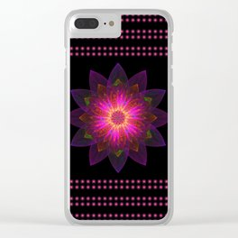 Abstract purple flower 06 Clear iPhone Case