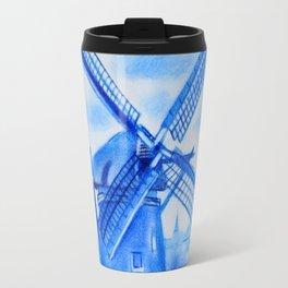 Drawing Delft-Style Windmill Travel Mug