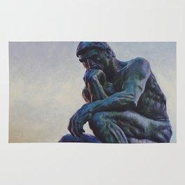 El pensador de Rodin Rug