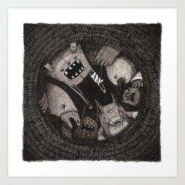 L'Origine delle Caccole e la loro diffusione Art Print
