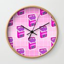 Loveboro cigarette packs pattern / girly stickers / pink grid by innapoka
