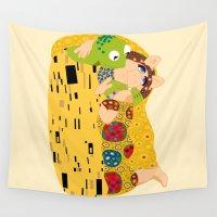 klimt Wall Tapestries featuring Klimt muppets by tuditees
