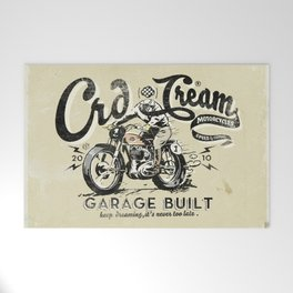 Crd Cream Motorcycles Welcome Mat