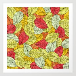 Let the Leaves Fall #10 Art Print