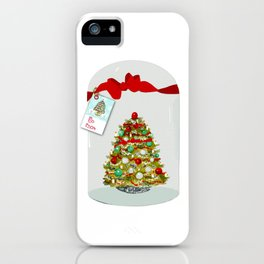 I'll Be Home For Christmas, Christmas Tree Globe iPhone Case