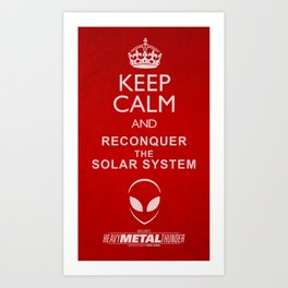 KEEP CALM - Heavy Metal Thunder Artwork Art Print