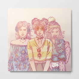 Three Wise Sisters Metal Print