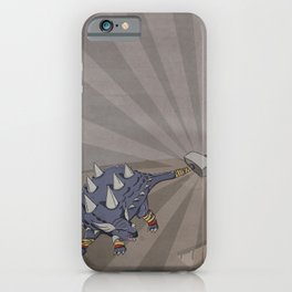 Ankylothorus - Superhero Dinosaurs Series iPhone Case