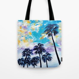 Oceanside Palm Trees Tote Bag
