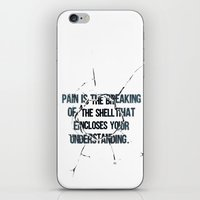 pain iPhone & iPod Skins featuring Pain by fariedesign