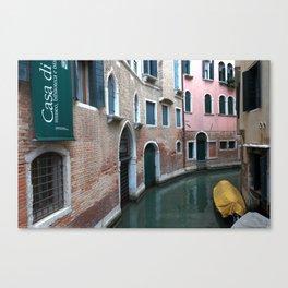 Venetian streets -canals .Carlo Galdoni Museum Canvas Print