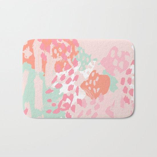 Brinley - abstract painting minimal modern art print home decor must haves Bath Mat