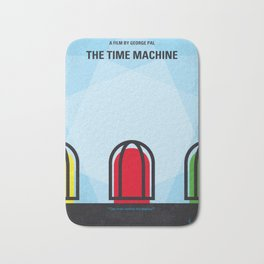 No489 My The Time Machine minimal movie poster Bath Mat